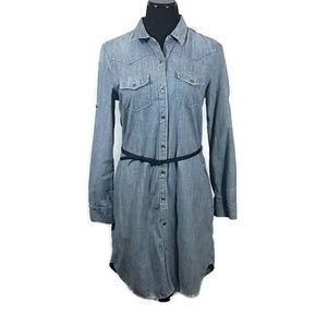 Gap 1969 Striped Button Front Tunic Dress